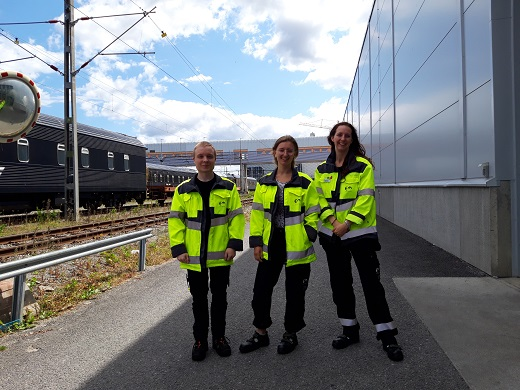 Praktikanter i Hagalund från Swedtrains praktikprogram